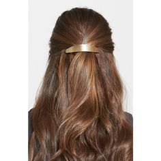 L. Erickson 'Ellipses' Volume Barrette ($24) ❤ liked on Polyvore featuring accessories, hair accessories, hair, brushed gold, l. erickson hair accessories, l. erickson, hair clip accessories and barrette hair clips