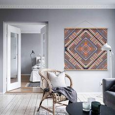 Lienzo decorativo estilo étnico - accesorios y decoración del hogar - arte e ilustraciones - hecho a mano en DaWanda.es