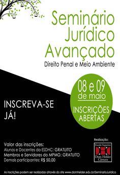 F.G. Saraiva: Seminário Jurídico de Direito Penal e Meio Ambiente