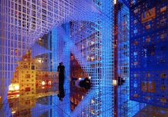 Artist Serge Salat's installation which creates an infinite space within a small room. Incredible.
