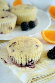* Blackberry Yogurt Muffins - I used raspberry greek yogurt for more flavour. Simple and delish.