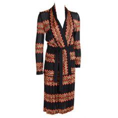 1970s MISSONI Black and Orange Skirt Set Orange Sweaters a5a4a8ca6