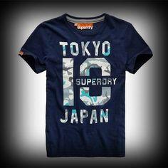 Superdry極度乾燥 Mid Point T-shirt Tシャツ アバクロ ホリスターに続く大ヒット! #ITSHOPアバクロcom ハリーポッター主演ダニエル・ラドクリフも着てる!カモフラージュのTOKYOのロゴプリントがインパクトがあります。