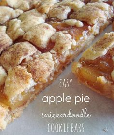 apple pie snickerdoodle cookie bars - super easy and quick