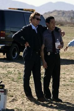 Simon Baker and Tim Kang from The Mentalist