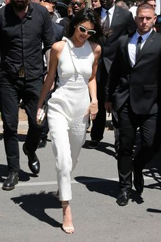 Kendall Jenner wore an Emilia Wickstead jumpsuit and carried a Jimmy Choo clutch. Cannes Film Festival arrivals - May 12 2016