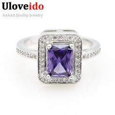 Find More Rings Information about CZ Diamond Jewelry Ring Women Christmas Gifts Sapphire Jewelry Wedding Square Silver Rings Mystic Topaz Zirconia Anillos Y3250,High Quality ring cheap,China ring nut Suppliers, Cheap ring from D&C Fashion Jewelry Buy to Get a Free Gift on Aliexpress.com