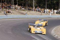 Denny Hulme & Peter Revson (McLaren M20S) Can-Am, Watkins Glen 1972 - source UK Racing History.