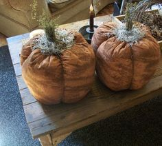 Fabric Pumpkins, handmade USA, www.kathysholiday.com