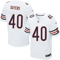 Nike Chicago Bears Gale Sayers Jersey Men White #40 NFL Jerseys Sale