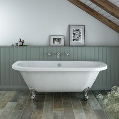 Shop the Admiral 1685 Back To Wall Roll Top Bath and transform your traditional bathroom setting. Now available at Victorian Plumbing.co.uk.