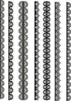Border Pattern, Border Design, Lace Design, Love My Dog, Border Embroidery Designs, Embroidery Patterns, Mandala Design, Mandala Art, Mehndi Style