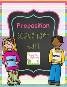 Preposition Scavenger Hunt is a fun way to get your students recognizing and practicing prepositions and prepositional phrases.