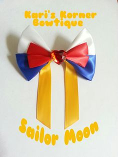 Anime Inspired Bow  Sailor Moon by KarisKornerBowtique on Etsy, $6.00
