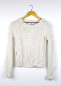 Second Hand Strick Pullover, weiß, 6,00€