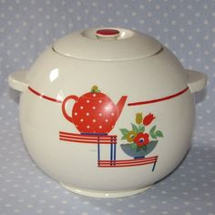 VIntage Cookie Jar by Hostess Ware Pottery Guild | Retro Glamping