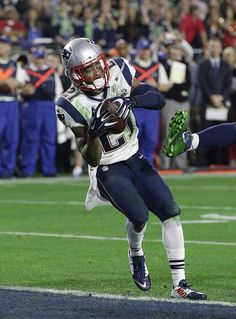 The catch!   Intercepted by Malcolm Butler - rookie wins Super Bowl !  2-1-15
