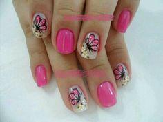 Mariposita Fancy Nails, Pretty Nails, Cute Nails, Cute Pedicure Designs, Nail Art Designs, Cute Spring Nails, Summer Nails, Hair And Nails, My Nails