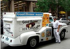 Good Humor ice cream truck. In my neighborhood he was called the ding ding man. Mom...do you have a quarter