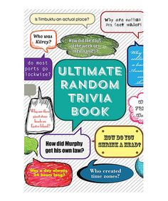 Love this Ultimate Random Trivia Book Paperback by Publications International on #zulily! #zulilyfinds