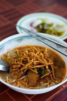 FOOD - Chiang Mai - Khao Soi Prince (named one of the best restaurants) #travel #thailand #bangkok