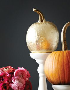Gold foil pumpkin. so pretty!!