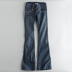 Bongo -Junior's Wide Waist Flare leg Jeans