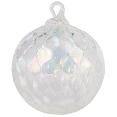 GLASS-EYE-STUDIO-Classic-Round-Ornament-Hand-Blown-Glass-USA-086L-WHITE-ILLUSION