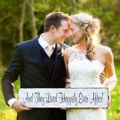 The Wedding of My Dreams - And They Lived Happily Ever After Wedding Sign  #wedding