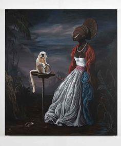 Ozbolt Benin Beauty, 2009  Acrylic on board  168.5 x 148 cm / 66 3/8 x 58 1/4 in