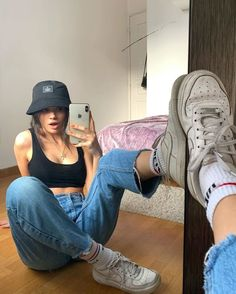 38 beautiful preppy casual summer outfits for school 29 Simple Outfits For School, Casual Summer Outfits, Trendy Outfits, Winter Outfits, Summer School Outfits, Grunge Outfits, Swag Girl Outfits, Plad Outfits, Cute Simple Outfits