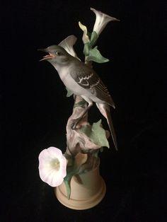 RARE Boehm Mockingbirds Sculpture 459 E - Signed - Male Bird -