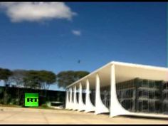 What could be worse than nearly destroying a government building during training?Destroying Supreme Court building.Long arm of law is itching to grab a hold of the two men,who made a low-altitude supersonic fly pass during a training exercise,& ended up shattering every window in the Supreme Court building in the capital, Brasilia.  Swooping low over the Supremo Tribunal Federal building, the two French-made Mirage 2000 jets generated a massive shockwave, obliterating the glass facade.
