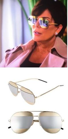 Kris Jenner s Gold and Silver Bi Color Mirrored Aviator Sunglasses  http   www. ff6df964f7a35