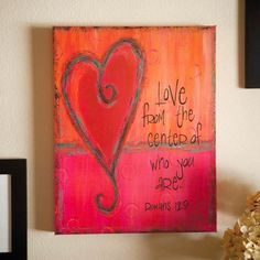 Image detail for -Christian Art > Religious Heart Painting Bible Verse Oil Painting ...