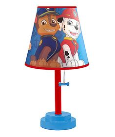 Nickelodeon Paw Patrol Table Lamp with Die Cut Lamp Shade Perfect for any Paw Patrol fan! Adds to the decor of any room Perfect for use on accent or end tables 40 Watt bulb required - not included Dimensions: H x W x L Table Lamps For Bedroom, Bedroom Decor, Bedroom Ideas, Rose Bedroom, Lamp Table, Bedroom Themes, Bedroom Furniture, Paw Patrol Bedroom, Paw Patrol Room Decor