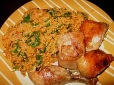 How To Cook My Green vegetable Jollof Rice . Read OnHow To Cook My Green vegetable Jollof Rice Jollof Rice Nigerian, Nigerian Food, West African Food, Meat, Chicken, Vegetables, Cooking, Green, Desserts