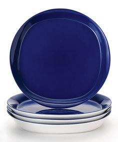 Blue Dinner Plate - Set of Four by Rachael Ray #zulily #zulilyfinds