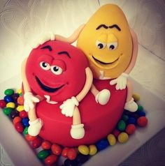 M&M birthday cake ! - Cake by Missyclairescakes