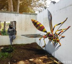 Odeith is a street artist from Damaia, Portugal. Odeith makes realistic drawings using graffiti art. His drawings are so realistic. 3d Street Art, 3d Street Painting, Amazing Street Art, Street Art Graffiti, Street Artists, Graffiti Murals, Mural Art, Graffiti Drawing, Graffiti Artists