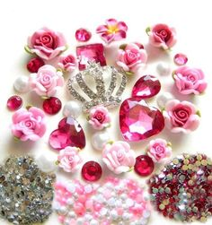 DIY Silver Rhinestones Crown Bling Bling Cell Phone Case Resin Flatback Kawaii Cabochons Deco Kit / Set -- lovekitty by LoveKitty, http://www.amazon.com/dp/B007S9ZW4K/ref=cm_sw_r_pi_dp_Jyvjrb173ZEPA
