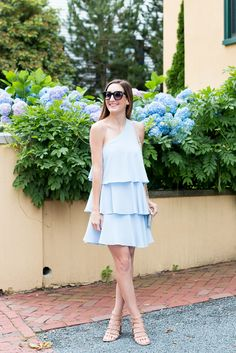 Baby Blue Tiered Dress