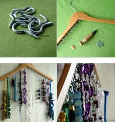 cool idea for necklace storage and display
