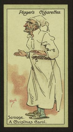 A Christmas Carol - characters from Dickens cigarette cards - Player's Cigarettes: Scrooge