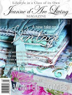 Jeanne d'Arc Living Magazine-- edition January 2016 - FRESH Living Vintage, Vintage Room, Vintage Items, Jeanne Darc Living, Flea Market Decorating, Living Magazine, Vintage Branding, French Country Decorating, Vintage Country