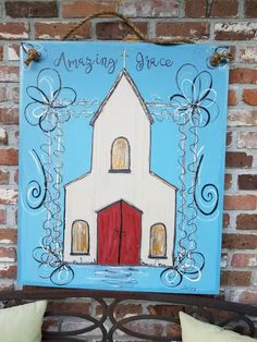 Easy Canvas Painting, Canvas Wall Art, Hand Painted Rocks, Painted Crosses, Painted Window Art, Christmas Art Projects, Christmas Paintings On Canvas, Pallet Art, Cross Paintings