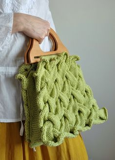 First Day of Spring - OOAK handknit designer handbag / purse in celery green by eveldasneverland, via Flickr