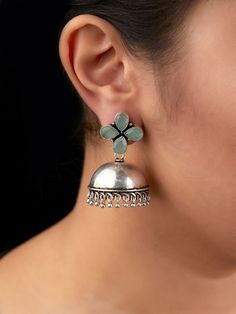 The Loom- An online Shop for Exclusive Handcrafted products comprising of Apparel, Sarees, Jewelry, Footwears & Home decor. Antique Jewellery Designs, Fancy Jewellery, Silver Jewellery Indian, Gold Jewellery Design, Stylish Jewelry, Silver Jewelry, Antique Jewelry, Silver Earrings, Jewelry Design Earrings