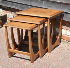 LOVELY VINTAGE RETRO G PLAN TEAK NEST OF TABLES