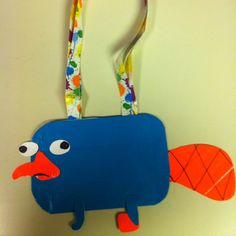 Perry the Platypus Duct Tape Purse,  Laura, an idea for your art kids!